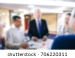 blur of business meeting in...   Shutterstock . vector #706220311
