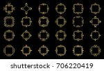 a huge rosette wicker border... | Shutterstock . vector #706220419