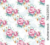 seamless floral pattern with... | Shutterstock .eps vector #706220515