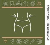 women waist  weight loss  diet  ... | Shutterstock .eps vector #706222021