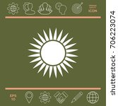 sun icon | Shutterstock .eps vector #706223074