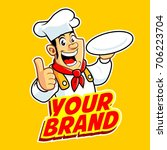 chef man with your brand. chef... | Shutterstock .eps vector #706223704