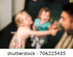blurred people in the banquet... | Shutterstock . vector #706225435
