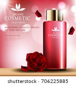 rose skin care cosmetic product ... | Shutterstock .eps vector #706225885