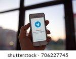 kazan russia 07.08.2016  iphone ... | Shutterstock . vector #706227745