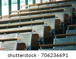empty abstract lecture hall in... | Shutterstock . vector #706236691