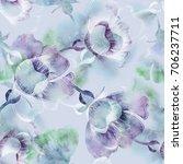 summer flowers seamless pattern.... | Shutterstock . vector #706237711