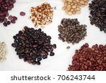 small piles of colorful dried... | Shutterstock . vector #706243744