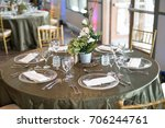 table setting at a party | Shutterstock . vector #706244761
