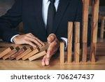 close up of businessman hand... | Shutterstock . vector #706247437