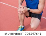 young sport man with strong...   Shutterstock . vector #706247641