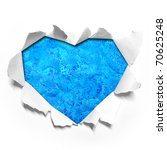 water in Heart shape paper - stock photo