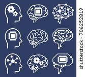 ai  artificial intelligence ... | Shutterstock .eps vector #706252819