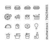 Icon Fast Foods  Vector