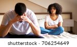 couple is having a problem in a ... | Shutterstock . vector #706254649