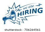 we are hiring  advertising sign ... | Shutterstock .eps vector #706264561