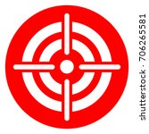illustration of target red... | Shutterstock .eps vector #706265581
