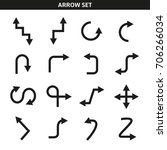 arrow icons set | Shutterstock .eps vector #706266034