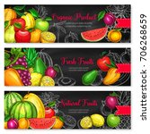 fruits banners of fresh... | Shutterstock .eps vector #706268659