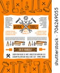 work tools poster for or do it... | Shutterstock .eps vector #706269055