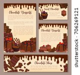 chocolate desserts posters or... | Shutterstock .eps vector #706269121
