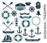 marine navy and nautical...   Shutterstock .eps vector #706269994