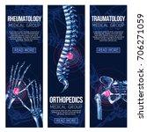rheumatology and orthopedics... | Shutterstock .eps vector #706271059
