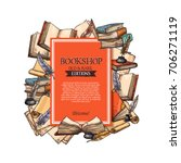 bookshop poster for old and... | Shutterstock .eps vector #706271119