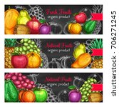 fruits banners for fresh... | Shutterstock .eps vector #706271245