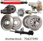 set of automobile  parts.... | Shutterstock . vector #70627390