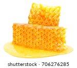honeycomb honey isolated on... | Shutterstock . vector #706276285