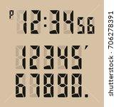 calculator digital numbers. | Shutterstock .eps vector #706278391