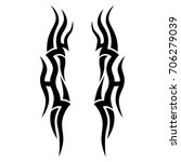 tribal tattoo art designs.... | Shutterstock .eps vector #706279039