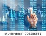 businessman plan graph growth... | Shutterstock . vector #706286551