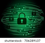 safety concept  closed padlock... | Shutterstock .eps vector #706289137