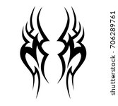 tribal tattoo art designs.... | Shutterstock .eps vector #706289761