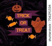 halloween pattern | Shutterstock .eps vector #706291534