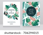 two banners with frame formed... | Shutterstock .eps vector #706294015