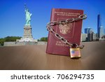 russian foreign passport with... | Shutterstock . vector #706294735