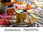 coffee in the oriental style  | Shutterstock . vector #706295701