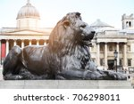 lion statue at the gate of the... | Shutterstock . vector #706298011