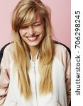 beautiful blond woman in... | Shutterstock . vector #706298245