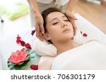 traditional oriental massage... | Shutterstock . vector #706301179