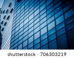 closeup of glass wall of modern ... | Shutterstock . vector #706303219