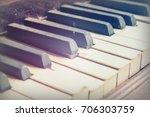 keys from an old broken and... | Shutterstock . vector #706303759
