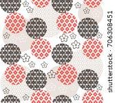 beautiful japanese seamless ... | Shutterstock .eps vector #706308451