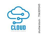 cloud service   vector logo... | Shutterstock .eps vector #706309345