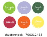 grunge post stamps collection ... | Shutterstock .eps vector #706312435