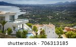 panorama view. holiday villa.... | Shutterstock . vector #706313185