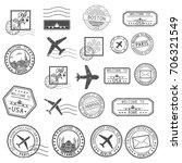 Post Stamps. Set Of Black...